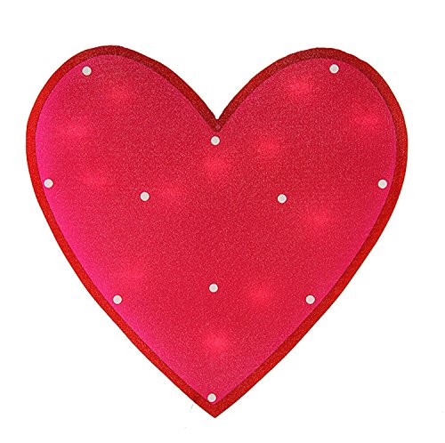 Shimmering Heart (Sienna Lighted Shimmering Pink Heart Valentine's Day Window Silhouette, 15