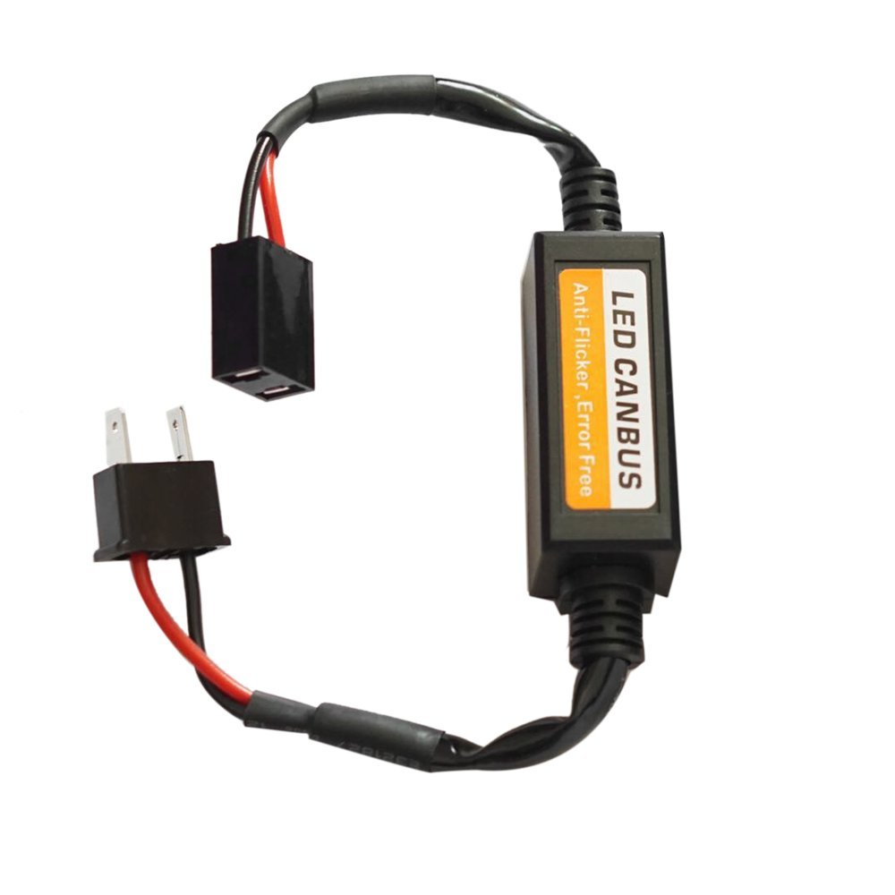 9-36V H7 LED Decoder Anti parpadeo del adaptador del faro del coche del adaptador de cancelación de errores (Color negro) Dailyinshop