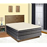 Continal Sleep High Density 2-inch Foam Mattress Topper, Adds Comfort to Mattress, Twin Size