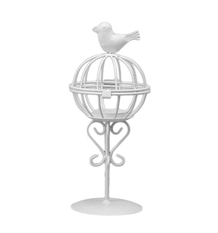 TREESTAR Retro Art Candeliere di Gabbia per Uccelli Creativo Mestieri Hollow Portacandela Lanterna Rack da Pranzo per Casa Giardino Decorazione di Matrimonio Nozze Compleanno Festiva Eventi