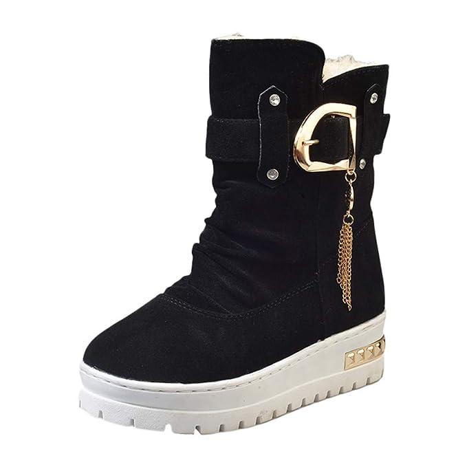 93b2edd90d48 DENER❤ Women Ladies Winter Snow Boots with Heels