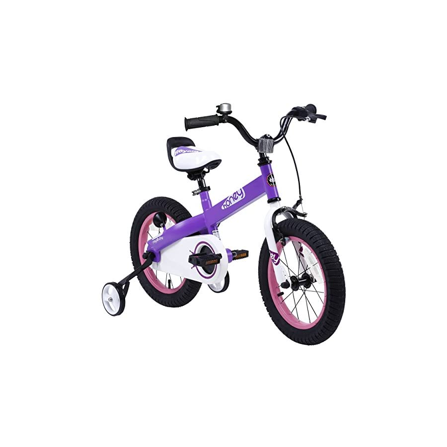 "RoyalBaby CubeTube Honey 12"" Bicycle for Kids, Red"
