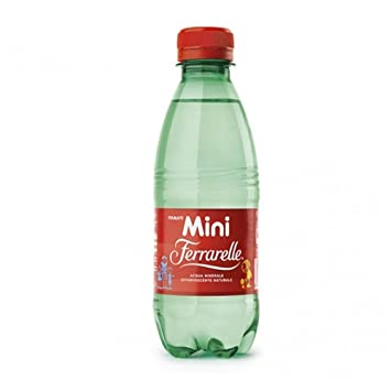Mini ferrarelle Agua Mineral Effervescente Natural 24 botellas de 25 cl ciascuna (1000061488): Amazon.es: Hogar