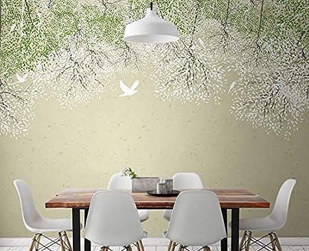Kuamai Custom Birds Trees Flowers Mural 3d Wall Photo Murals