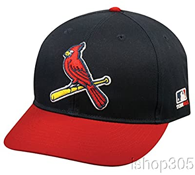 "2013 Youth FLAT BRIM St. Louis Cardinals Alternate Navy Blue/Red ""Bird"" Hat Cap MLB Adjustable"