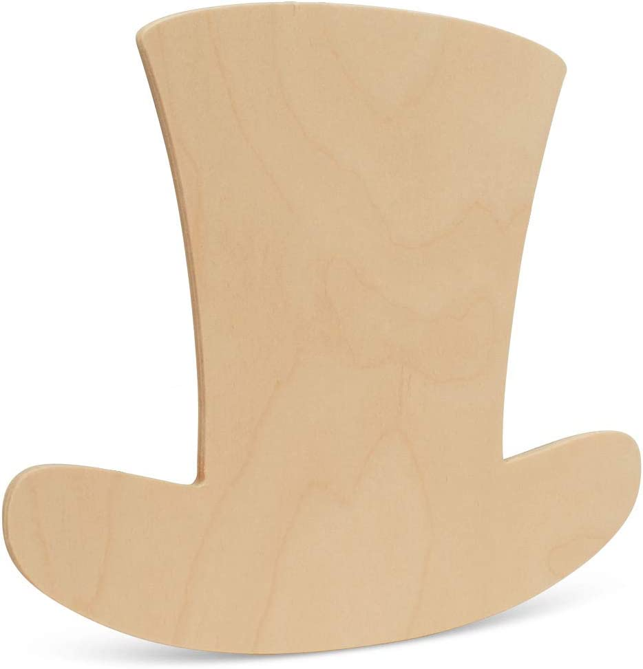 Laser Cut Out Unfinished Wood Shape Craft Supply PAT4 Leprechaun Hat