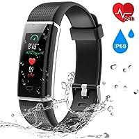 Chereeki Heart Rate Monitor Activity Fitness Tracker with IP68 Waterproof (Black)