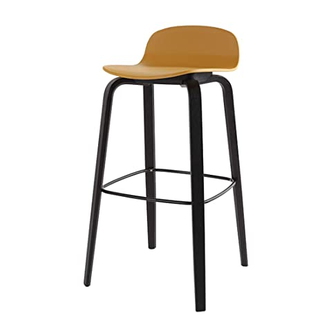 Amazon Com Bar Stool With Back Footrest Pp Seat Wood
