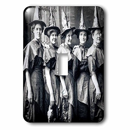 3dRose lsp_269792_1 Vintage Halloween Witches Coven Early 1900S Scary Toggle Switch -