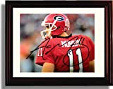 Framed Georgia Bulldogs Quarterback Aaron Murray Autograph Print