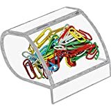 Kantek Paperclip Holder, Acrylic, 3''Wx2-3/4''Dx3-1/2''H, Clear