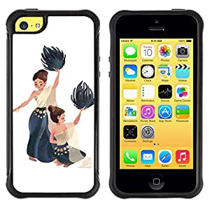 Suave TPU GEL Carcasa Funda Silicona Blando Estuche Caso de protección (para) Apple Iphone 5C / CECELL Phone case / / Dance National Native Women Painting Art /