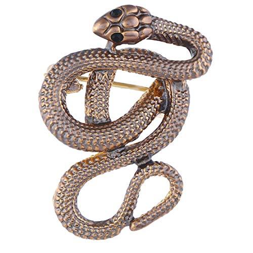 Fiona Jolin Enamel Python Snake Brooch Pin (Multicolor-J) (Snake Brooch)