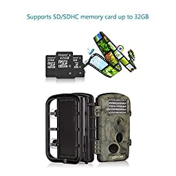 Crenova Game and Trail Hunting Camera 12MP 1080P HD With Time Lapse 65ft 120° Wide Angle Infrared Night Vision 42pcs IR LEDs 2.4\