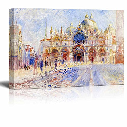 wall26 - The Piazza San Marco, Venice by Pierre Auguste Renoir - Canvas Print Wall Art Famous Painting Reproduction - 24