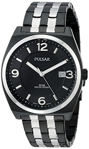 Pulsar Men's PS9281 Easy Style Collection Analog Display Japanese Quartz Black Watch