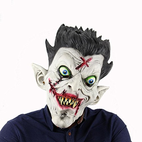 WILLTOO Party Terror Zombie Full Head Holder Latex Mask Halloween Bar Haunted House Toys (Multicolor)