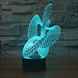 Abstract Dance Night Light Acrylic 3D Led Table Lamp Usb Touch Switch Xmas Gift