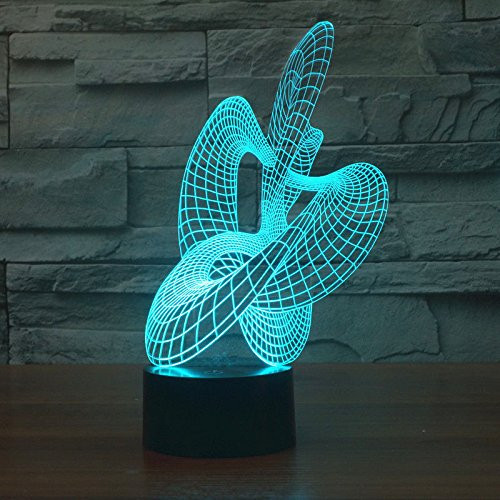 Abstract Dance Night Light Acrylic 3D Led Table Lamp Usb Touch Switch Xmas Gift by Tin Sign