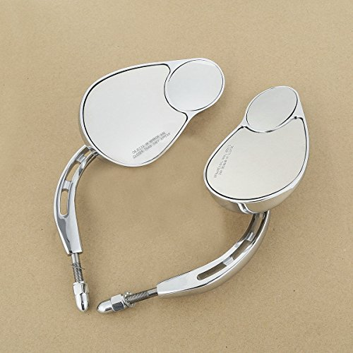 8mm Double Rear View Side Mirrors For Harley FLHT FLHR Road King FLHTC Classic (Cart Screen Bug Golf)