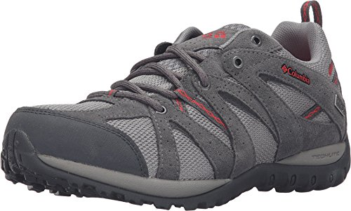 Columbia Grand Canyon Outdry Hiking Shoe – Women's Light Grey/Poppy Red, 6.5