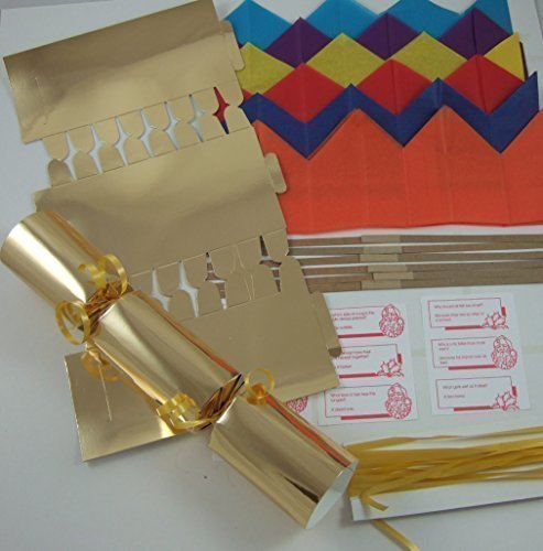 Carta laminata oro per petardi natalizi fai da te,6 pezzi,30.5cm