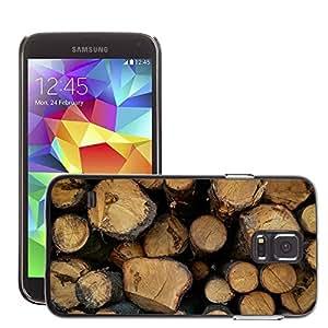 Etui Housse Coque de Protection Cover Rigide pour // M00150527 Bosque Saw cosecha Árboles Bloquear // Samsung Galaxy S5 S V SV i9600 (Not Fits S5 ACTIVE)