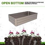Klismos 4'x2'Garden Bed Metal Outdoor Galvanized