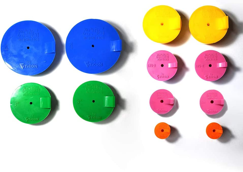 """Silicone Back Purge Plugs for Welding (Sanitary Tubing Kit 1""""-4"""")- Tig Aesthetics by Ticon Industries - -"""