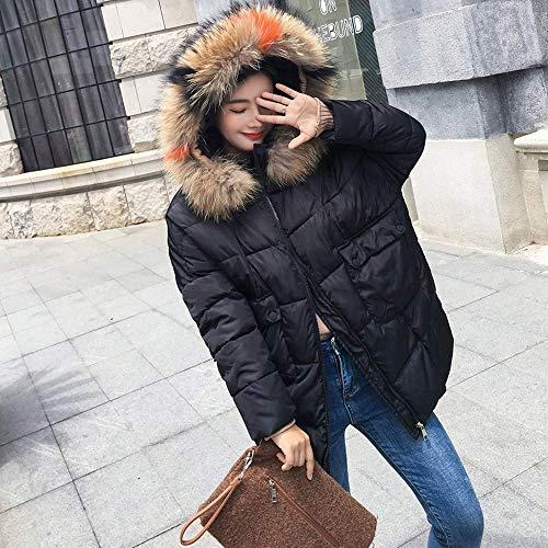Manches Parka Chaud Coton Xl À Taille Zhrui Veste Hiver Dames Épais coloré D'hiver Capuche Longues Outwear Survêtement Manteau Noir Casual Femmes wqx0BIvO