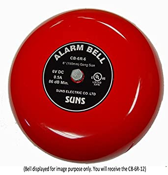 Amazon.com: Soles International cb-6r-12 Rojo alarma Bell 6 ...
