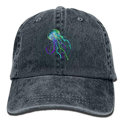 Hat hanbaozhou Graffiti Gorras béisbol Female Purple Caps Low Green Baseball Jellyfish Denim 7AnnxdpWw0