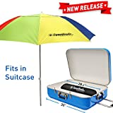 EasyGoProducts EasyGo Travel Beach Umbrella - for Cruise, Airplane, Train, Small Car