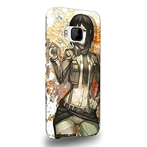 Case88 Premium Designs Attack on Titans Mikasa Ackerman Protective Snap-on Hard Back Case Cover for HTC One M9
