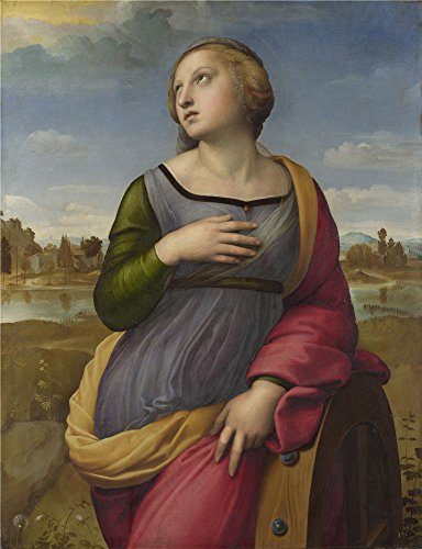 [Oil Painting 'Saint Catherine Of Alexandria 1507, Raphael', 12 x 16 inch / 30 x 40 cm , on High Definition HD canvas prints is for Gifts And Basement, Hallway And Kitchen Decoration,] (Famous Trios Costumes)