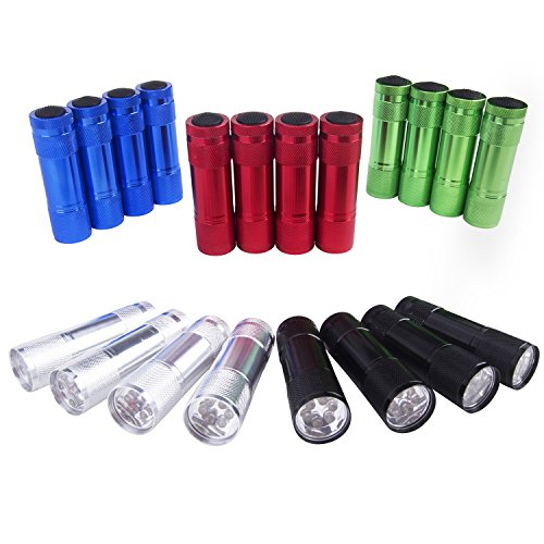 Mini Flashlight Set (FASTPRO 20-pack Aluminum LED Flashlights Set with 60-piece AAA Batteries Included and Pre-installed)