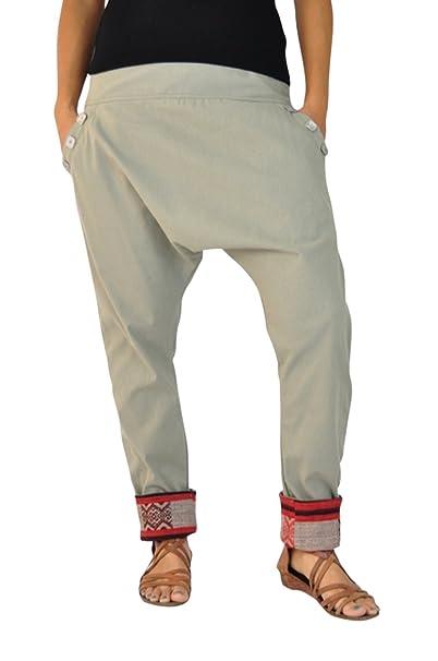 be371216bfd1 virblatt Eleganti Pantaloni Cavallo Basso Donna Come Abbigliamento Etnico -  Pai S