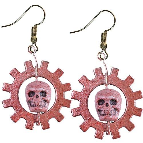 Cog Gears Of War Costume (War Skull Gears Pendant Earrings)
