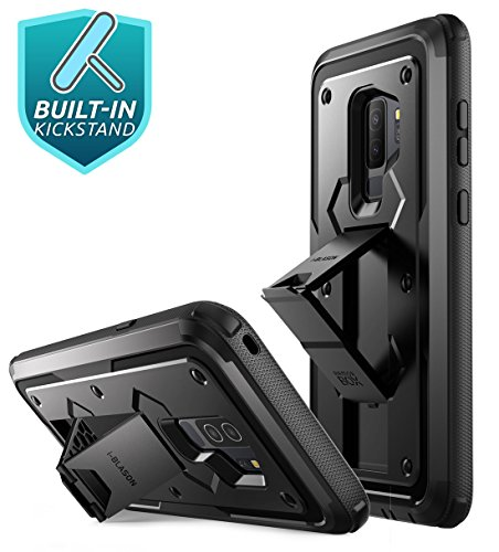 Galaxy S9+ Plus Case, i-Blason [Armorbox V2.0] [Full body] [Heavy Duty Protection ] [Kickstand] Shock Reduction/Bumper Case with Screen Protector for Samsung Galaxy S9+ Plus (2018 Release) (Black) by i-Blason (Image #3)