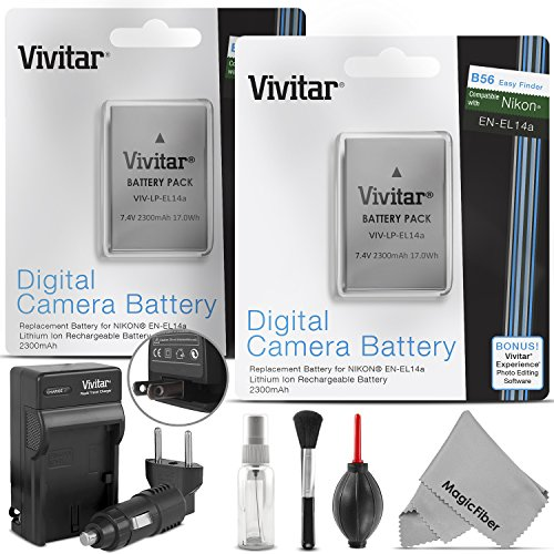 EN-EL14 / EN-EL14a Battery and Charger Kit for NIKON DSLR D