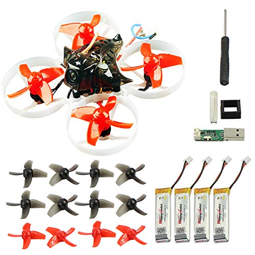 QWinOut Happymodel Mobula7 Quadcopter Indoor Four-axis 2S 75mm Brushless Whoop Racer Drone BNF (XM+ Receiver for Frsky EU-LBT Basic Version)