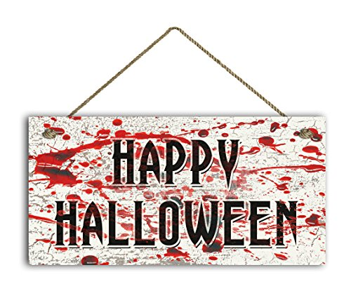 Happy Halloween Sign, Blood Splatter Horror Scene on