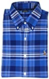 Polo Ralph Lauren Mens Stretch Oxford Slim Fit Sport Shirt, Multi Blade.BlueWhite, L