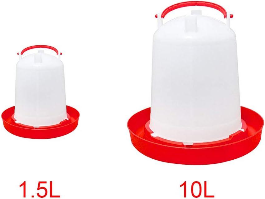 Lycos3//à suspendre volaille Feeder Voir image 1,5 l 1.5L//10L Feeder volaille amovible pour poulailler PP avec poign/ée Grande contenance Seau plastique volaille Abreuvoir