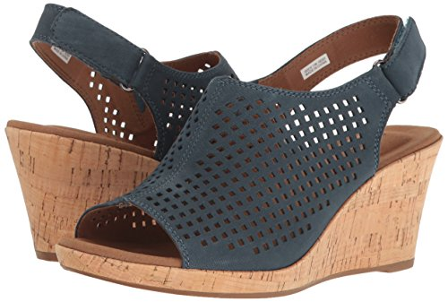 Leather Rockport Chaussures Perf Teal Sling Briah Femmes Pour wHOHqpB0n