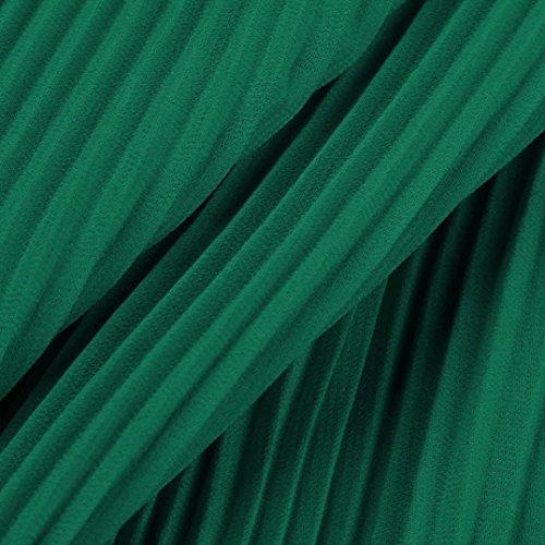 Abito Hot Tinta Donna Cerimonia Maniche Lady Maniche Chiffon Sera Lungo Senza Unita abito Maxi Vestito Halter Sonnena Donne Lunghi da Festa Formale Senza Verde Eleganti w0EnA7