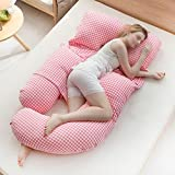Geometric pregnant women sleeping side sleeper waist-side sleeping pillow / pregnant women pillows / belly pillow / pillow / maternity supplies ( Color : D )