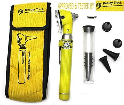 BeautyTrack Mini Ent Otoscope, Complete Set - Fiber Optic Medical Diagnostic Otoscope & Carry Pouch (Bt Diagnostic)