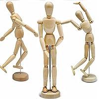 Boneco Articulado Manequim Madeira 15 Cm Desenho Modelagem