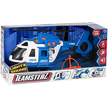 Teamsterz Light and Sound Rescue Helicopter Toy, 3-6 Years